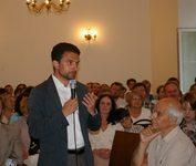 Журналист Александр Архангельский на открытии дома КПЦ «Преображение». 19 августа 2008 года