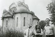 В Андрониковом монастыре с членами общины. Москва, 1980 год, лето. Перед поступлением в ЛДА.