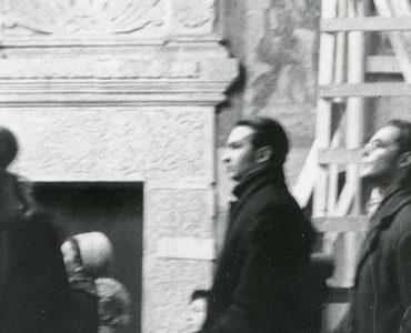 Александр Копировский и Георгий Кочетков в храме Троицы в Никитниках