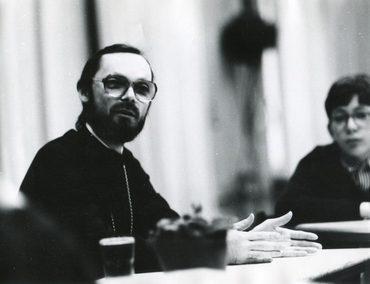 Беседа с учащимися французской школы в Москве. 1989 г.