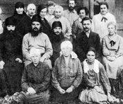 Прот. Сергий Мечёв с членами общины. 1927-28 гг.