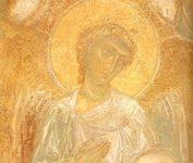«Архангел Михаил». Фреска Дмитриевского собора. Владимир, 1195 г.