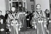 Чтение канона св. Андрея Критского в храме ЛДА. 1983 г.