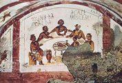 Фреска из катакомбы свв. Петра и Марцеллина. 1 пол. IV в.