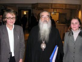 Митрополит Минский и Слуцкий Филарет, председатель СБК с преподавателями СФИ